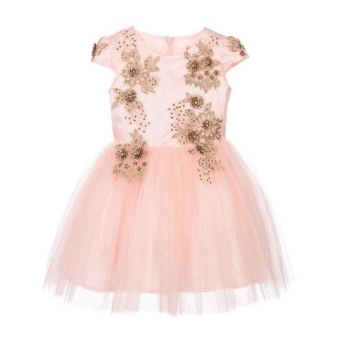 Me Mu London - Couture Tüllkleid in Rosa und Gold