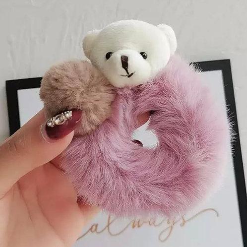 La petite surprise Couture Plüsch Scrunchie Teddy Mauve