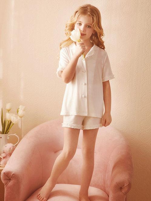 La petite surprise Couture Schlafanzug Louanne Weiß