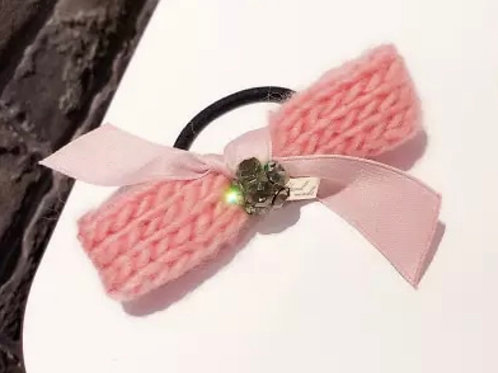 La petite surprise Couture Haargummi Schleife Rosa
