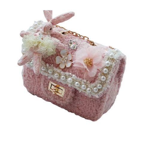 La petite surprise Couture Boucle Täschchen Bunny Rosa