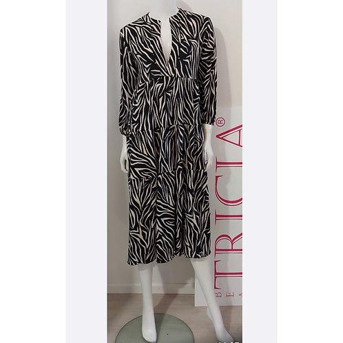 Tricia - Kleid Lucia Zebra Design Schwarz