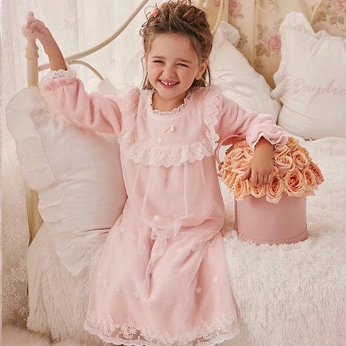 La petite surprise Couture Nachthemd Claudine Rosa