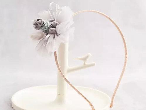 La petite surprise Couture Haarreifen Teddy Grau