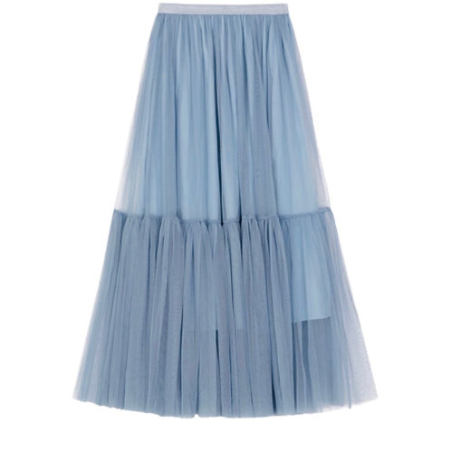 La petite surprise Couture Tüllrock Blaugrau