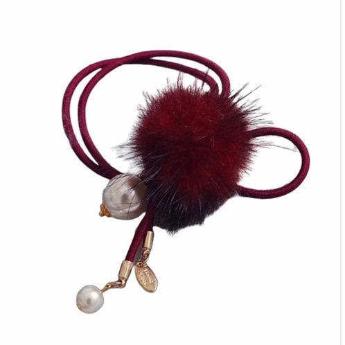 La petite surprise Couture Haargummi / Armband Rot