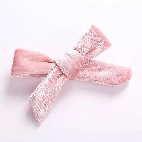La petite surprise Couture Haarspange Samtsceife Rosa