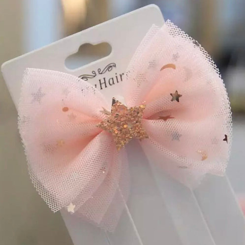 La petite surprise Couture Haarspange Schleife Hellapricot
