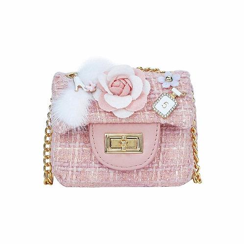 La petite surprise Couture Boucle Täschchen Blume Rosa