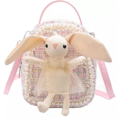 La petite surprise Couture rosa Boucle Rucksack mit hellen Bunny