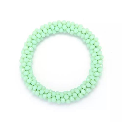 La petite surprise Couture Haargummi / Armband Crystal Hellgrün