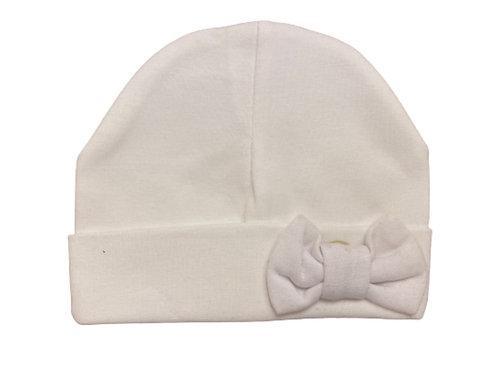 La petite surprise Couture Baby Newborn Mütze Weiß
