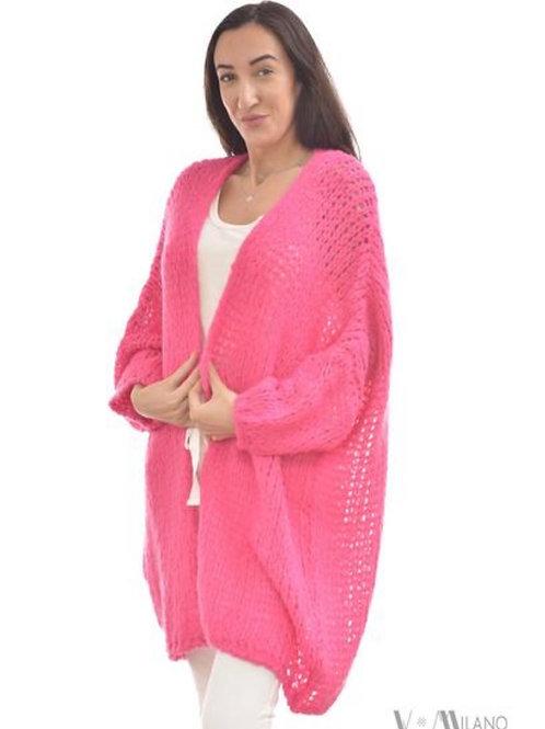 V Milano - Strickjacke Darma Oversize Pink