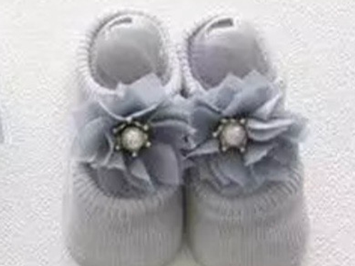 La petite surprise Couture - 1 Paar Baby Socken Grau 0-12 Monate