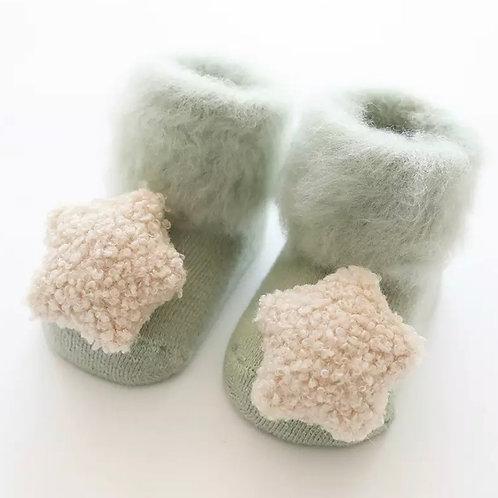 La petite surprise Couture Baby Socken Lindgrün