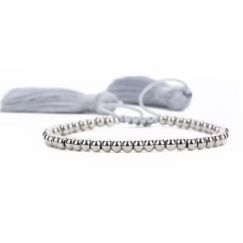 La petite surprise Couture Boho Armband Silbergrau