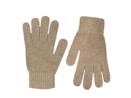 Zwillingsherz - Handschuhe 100% Cashmere Uni Beige
