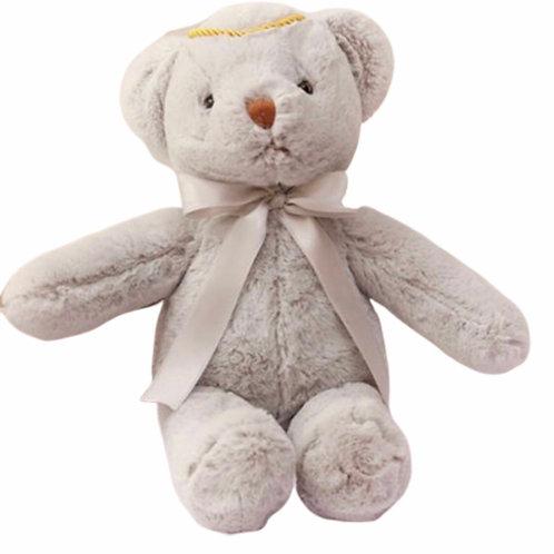 La petite surprise Couture Teddybär Grau 40 cm