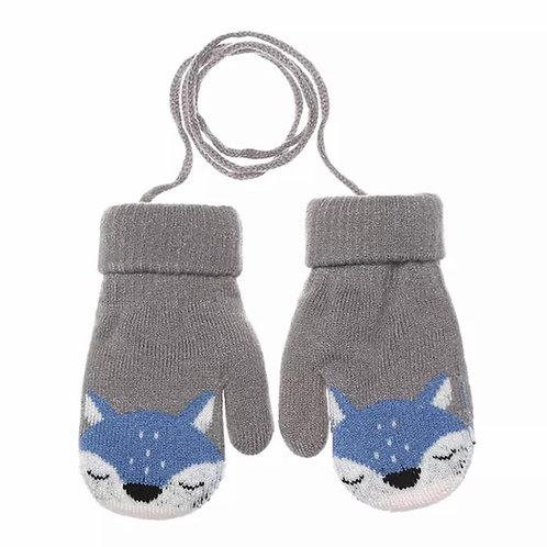 La petite surprise Baby Couture Handschuhe Fäustlinge Grau