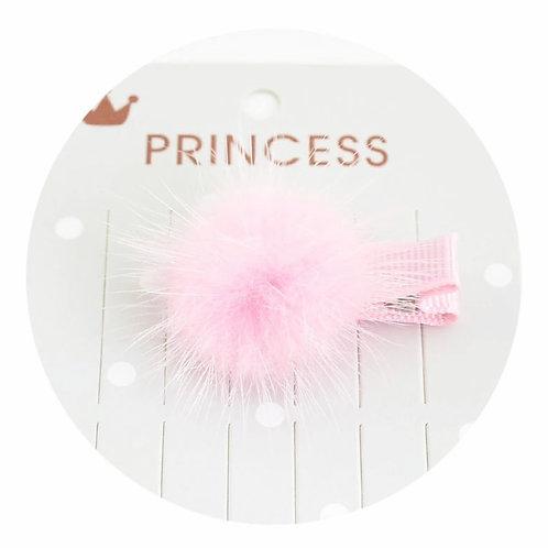 La petite surprise Couture Haarspange Pompom Hellrosa
