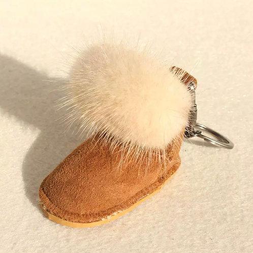 La petite surprise Couture Anhänger Boots Camel