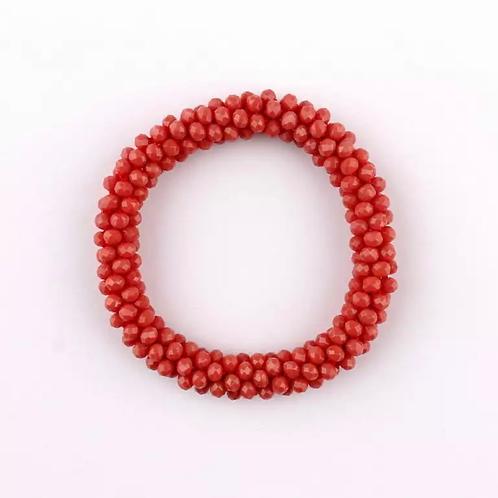 La petite surprise Couture Crystal Haargummi / Armband Koralle