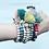 Thumbnail: La petite surprise Couture Boho Armband Tiffanygrün
