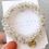 Thumbnail: La petite surprise Couture Crystal Haargummi / Armband Weiß
