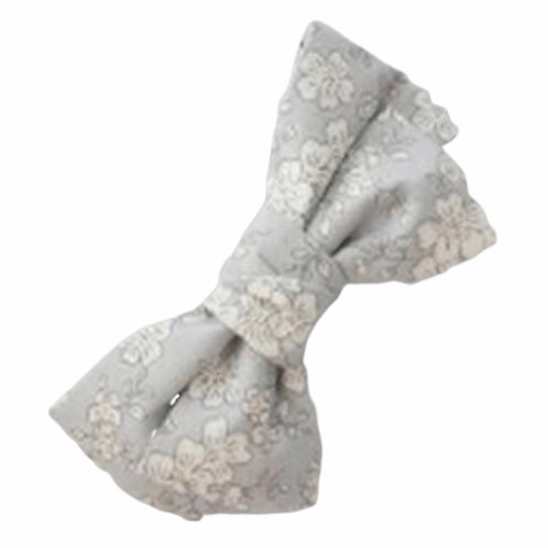 La petite surprise Couture Haarspange Schleife Hellgrau