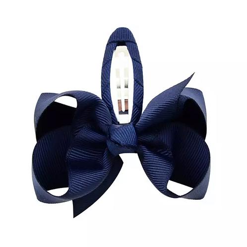 La petite surprise Couture Haarspange Schleife Marineblau