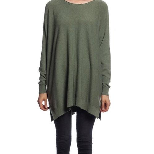 V Milano - Pullover Dulcie Oversize Khaki