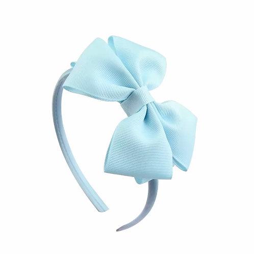 La petite surprise Couture Haarreifen Schleife Hellblau