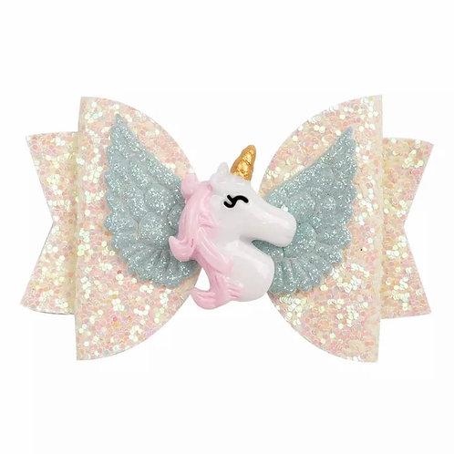 La petite surprise Couture Haarspange Einhorn Creme