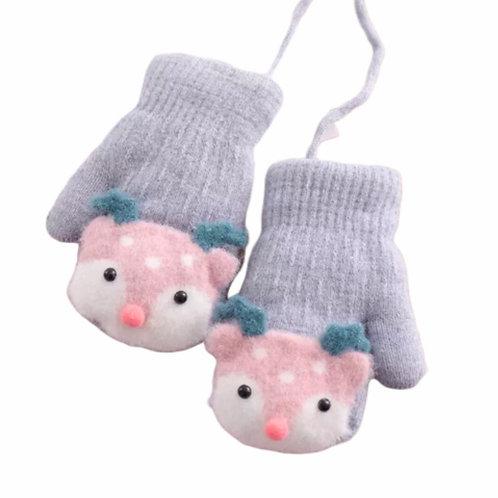 La petite surprise Baby Couture Handschuhe Fäustlinge Hellgrau