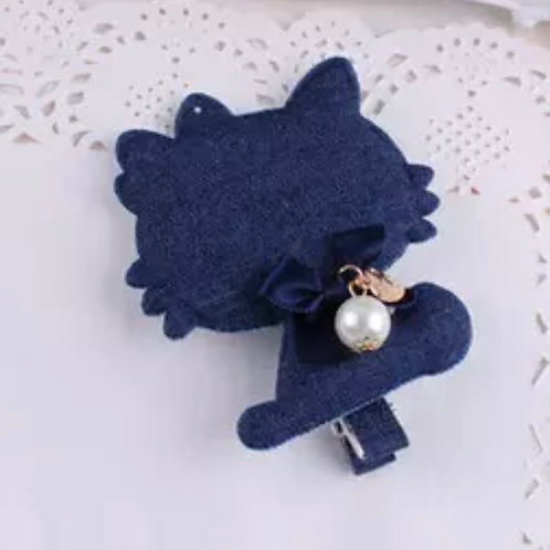 La petite surprise Couture Haarspange Denim Hello Kitty