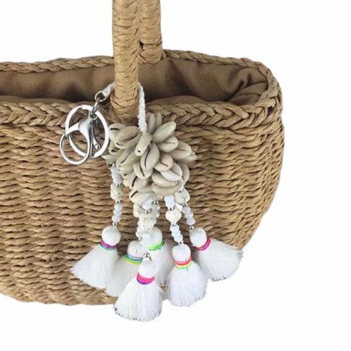 La petite surprise Couture Muschel Anhänger Weiß