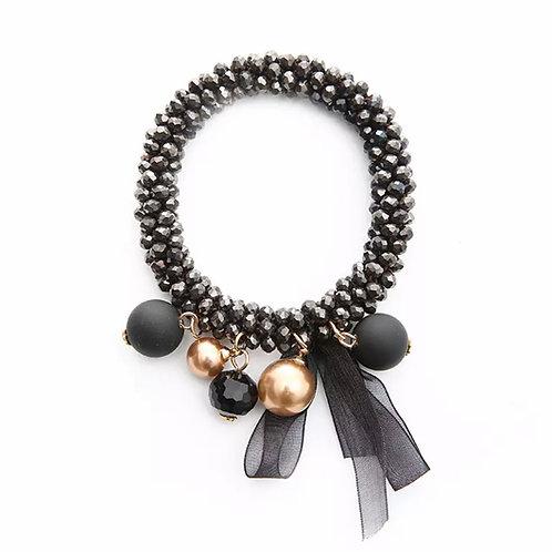 La petite surprise Couture Crystal Haargummi / Armband Hématite