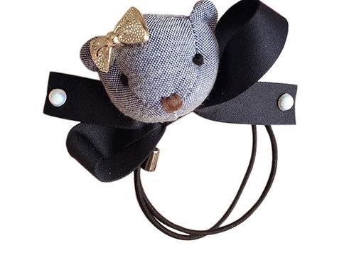 La petite surprise Couture Girly Teddy Haargummi Jeansblau