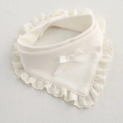 La petite surprise Couture Baby Lätzchen Spucktuch Weiß