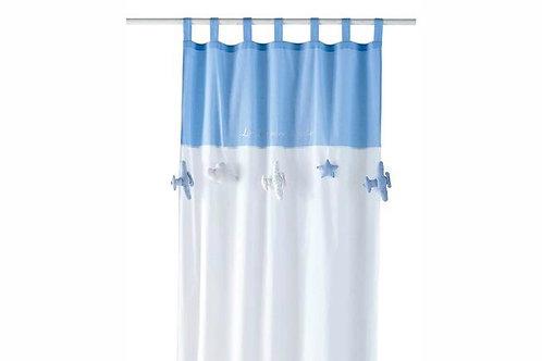 La petite surprise Couture - Schlaufenvorhang 110x120 cm Hellblau