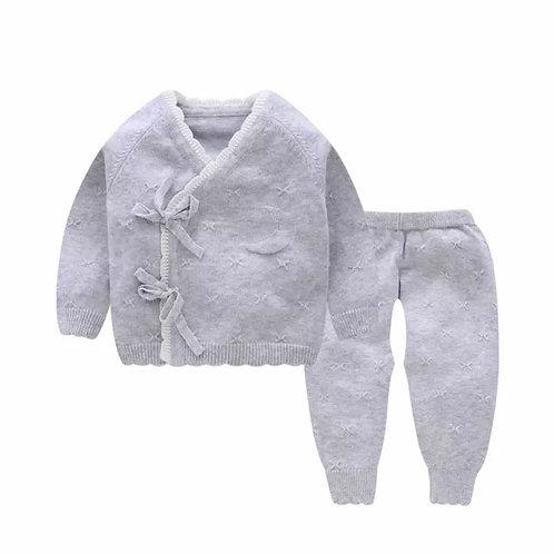 La petite surprise Baby Couture 2-Teiler Grau