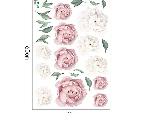 La petite surprise Couture Wandaufkleber Pfingstrosen Rose 60x45 cm