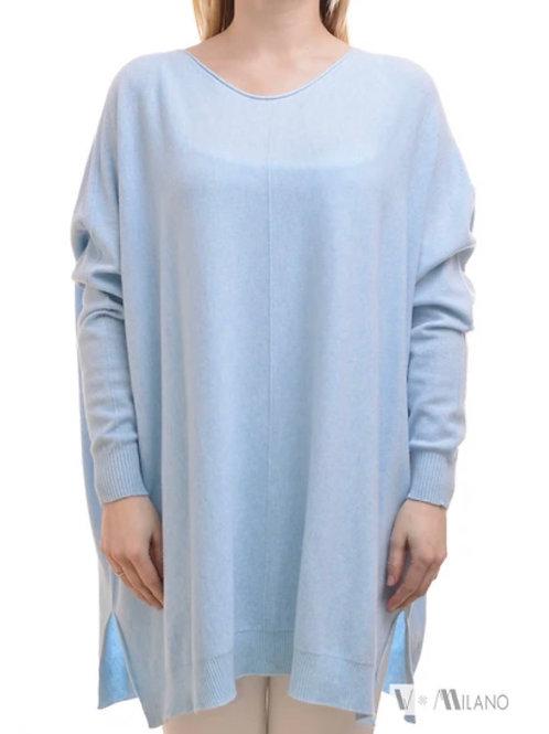 V Milano - Pullover Dulcie Oversize Himmelblau