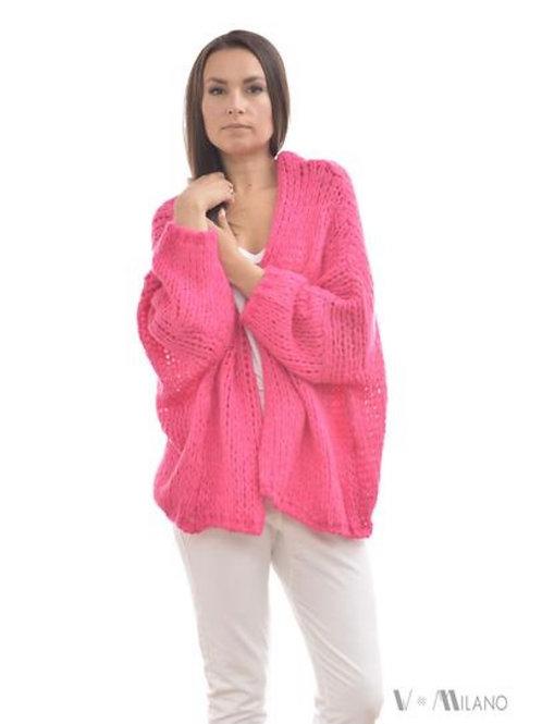 V Milano - Strickjacke V. Lora Oversize Pink