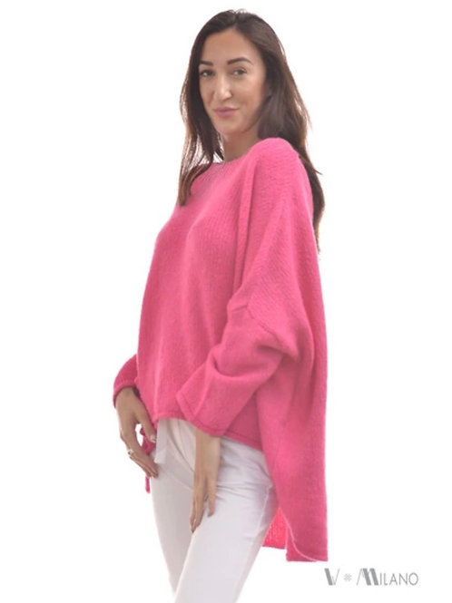 V Milano - Pullover Sun Oversize Pink