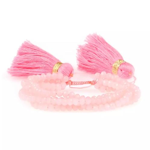 La petite surprise Couture Boho Armband Rosa