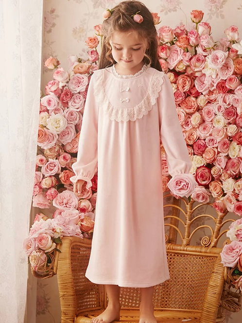 La petite surprise Couture Nachthemd Colette Rosa