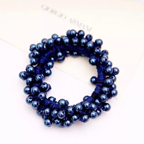 La petite surprise Couture Perlen Haargummi / Armband Blau