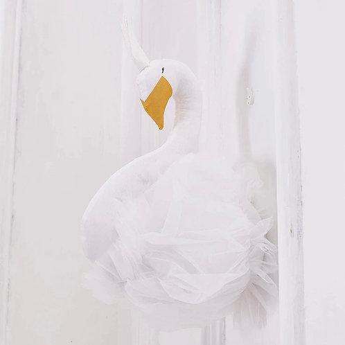 La petite surprise Couture Wanddeko Schwan Weiß