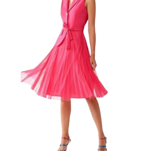 Rinascimento - Kleid mit Plisee-Rock Pink